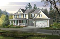 Farmhouse, Traditional House Plans - Home Design CD # 9274 Country House Plans, Country Style Homes, Dream House Plans, Small House Plans, House Floor Plans, Farmhouse Design, Farmhouse Style, Farmhouse Front, Home Design Floor Plans