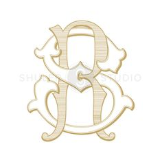 RS Monogram SR Monogram Custom Wedding Monogram by ShulerStudio