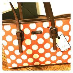 Polka dot purse Brand new polka dot purse-- so fun for summer! Dana Buchman Bags