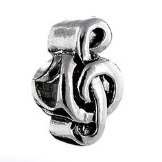 1PC Music Clef Note Click And Lock Stopper Bead For European Charm Bracelets