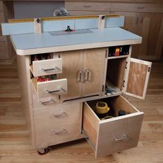 Fully Armed Router Table Woodworking Plan by Woodcraft Magazine