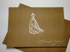 Bridal Shower Thank You Note Card Set Handmade by DesigningMoments, $8.00