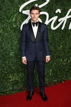 Pin for Later: The British Fashion Awards Red Carpet Was as Stylish as You'd Expect Oliver Cheshire in Marks & Spencer