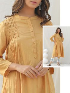 Sleeves Designs For Dresses, Dress Neck Designs, Stylish Dress Designs, Stylish Dresses For Girls, Simple Dresses, Casual Dresses, Casual Wear, Pakistani Dresses Casual, Pakistani Dress Design