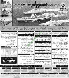 Pakistan Employment: Pakistan Navy Jobs Latest Advertisement 2017 ...