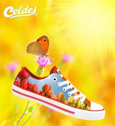 Casual high quality canvas shoes with famous destinations from around the world. Shoe Art, Your Life, Happy Friday, Tulips, High Top Sneakers, Finding Yourself, Unique Shoes, Colorful, Spring