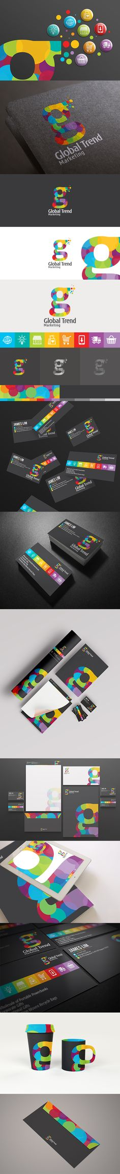 A #branding project for Global Trend marketing. #Global Trend is an# online #technology #shopping store that brings in the best and latest #tech stuffs in town.  A #colorful concept theme.