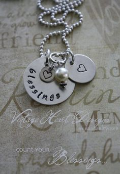 'Blessings' - hand stamped jewelry