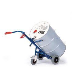 GTARDO.DE:  Fasskarre 1 Stützrad, Tragkraft 250 kg, Luft, Rad-Ø 260x85 mm, Maße 700x600 mm 202,00 €