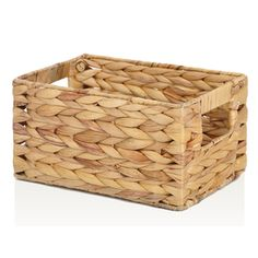 allen + roth 10.7 D x 7.15-in W x 5.5-in H Natural Water Hyacinth Basket $10