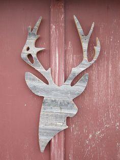 Weathered Wood Deer Silhouette