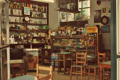 καφενειο. by Lorelai Sebastian, via Flickr Greek Cafe, Coffee Places, Coffee Shops, Greece Travel, Joy, Traditional, Drink, Kitchen, Inspiration