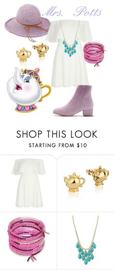"""Mrs. Potts"" by princessestrada ❤ liked on Polyvore featuring River Island, Disney, Erica Lyons and 1928"