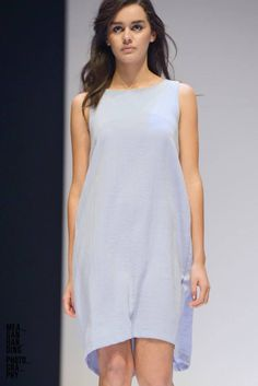 MSFW 2014- Rationale Collection Decimal dress in Blue belle. Photographer Meagan Harding.