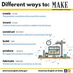 Different ways to: MAKE
