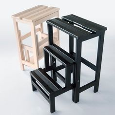 Wooden Multipurpose Furniture Design Ideas For Your Home - My Furniture, Plywood Furniture, Furniture Design, Kitchen Step Stool, Recycled Plastic Adirondack Chairs, Diy Stool, Childrens Rocking Chairs, Multipurpose Furniture, Wooden Stools