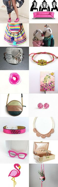 Hot Pink !  by Elinor Levin on Etsy--Pinned with TreasuryPin.com