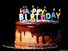 Výsledek obrázku pro birthday chocolate cake