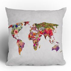 DENY Designs Bianca Green Its Your World Throw Pillow