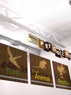 i like how they used the silhouette of the type of animals to go along with the words to make it that much easier to understand Zoo Signage, Wayfinding Signage, Signage Design, Environmental Graphics, Environmental Design, Aberdeen Park, Pet Corner, Menu Boards, Aquarium Ideas