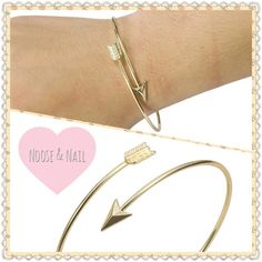 18K GP Arrow Wrap Bracelet 18K gold plated wrap around arrow bracelet. Adjustable to fit any wrist! Jewelry Bracelets