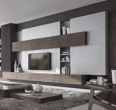 "Learn more details on ""tv wall mount hide cords"". Living Pequeños, Living Room Modern, Home Living Room, Living Room Decor, Living Room Tv Unit Designs, Living Room Wall Units, Kitchen Room Design, Home Room Design, Tv Wall Design"
