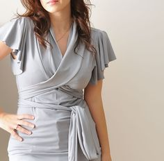 Womens Top Wrap Top Short Sleeved Summer Top In Light by Lirola, $69.00
