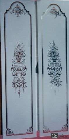sandblasted glass panels Lovely!