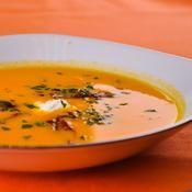 Crème de potiron au chèvre frais - une recette Soupe - Cuisine