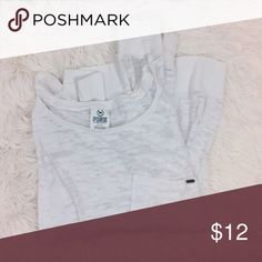 PINK white semi sheer long sleeve top Brand : PINK by Victoria's Secret Size : M Condition : excellent condition  Measurements : Length : 21in Bust : 22in  *semi-sheer *breast pocket *boat neck PINK Victoria's Secret Tops Tees - Long Sleeve
