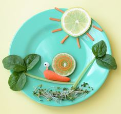 Creative Food Plate: Mr. Snail