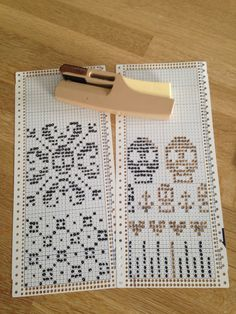 Punchcards for Brother knitting machine, going with my test knitting part 2 post