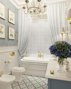 Trendy Bathroom Remodel Grey And White Decor Ideas Grey Bathrooms, Beautiful Bathrooms, Bathroom Yellow, Country Bathrooms, French Country Bathroom Ideas, Master Bathrooms, Romantic Bathrooms, French Country Bedrooms, Brown Bathroom