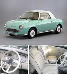 So so so in love with this car. It will be mine one day. Nissan Figaro <3