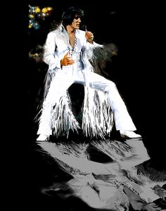 Elvis In Concert - 1970 - Beautiful Elvis Art Elvis Presley Born, Elvis Presley Concerts, Elvis Presley Pictures, Elvis In Concert, Elvis Presley Christmas, Lisa Marie Presley, King Of Music, Star Pictures, Thats The Way