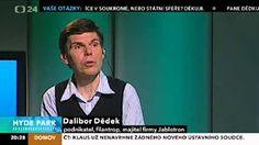 Mozek nejlépe pracuje, když ho do ničeho nenutíte, říká jeden z nejúspěšnějších Čechů Dalibor Dědek - YouTube Hyde Park, Crying, Youtube, Youtubers, Youtube Movies