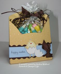 A Good Egg Treat box Tutorial. Stamp: A Good Egg    By:andreawalford
