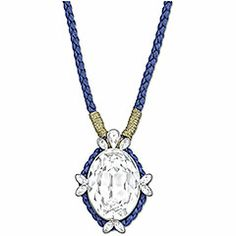 Our Akimbo Long Pendant is part of the into the blue collection. It's available on www.swarovski.com