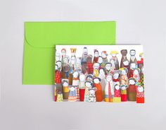 Holiday Card  Folded greeting card  vivid photo of by TIMOHANDMADE