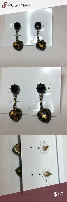 "Earrings💋💋🔥🔥 Betsey Johnson heart earrings 1"" drop Betsey Johnson Jewelry Earrings"