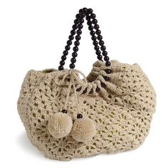 """New Cheap Bags. The location where building and construction meets style, beaded crochet is the act of using beads to decorate crocheted products. """"Crochet"""" is derived fro Crochet World, Knit Or Crochet, Bead Crochet, Crochet Clutch, Crochet Purses, Crochet Handles, Purse Patterns, Knitted Bags, Crochet Accessories"""