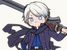 Nero Dmc, Gang Road, Dante Devil May Cry, Black Anime Characters, Dmc 5, Samurai Art, Game Concept Art, Cute Chibi, Video Game Art
