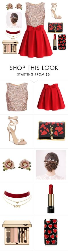 """""""Be My Valentine"""" by catdancestar ❤ liked on Polyvore featuring Chicwish, Giuseppe Zanotti, Yves Saint Laurent, Les Néréides, Charlotte Russe and Lancôme"""