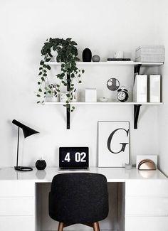 DIY Desk Accessories Black And White Desk Typography Art