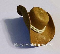 Cowboy Hat | Mary's Dollhouse Miniatures