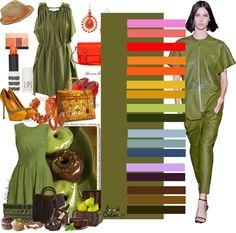 Сочетание цветов: зеленый. | Colors.life