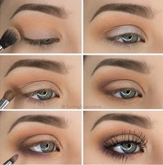 50 perfekte Make-up-Tutorials für grüne Augen 50 makeup tutorials for green eyes -Simple Pretty Eye Shadow Tutorial – amazing green eye makeup tutorials for work for prom for weddings for every day easy step by step diy guide for beautiful natural look- t Eyeshadow Tutorial For Beginners, Makeup Tutorial Step By Step, Makeup For Beginners, Easy Eyeshadow Tutorial, Brown Eye Makeup Tutorial, Beginner Makeup Tutorial, Simple Makeup Tutorial, Make Up Ideas Step By Step, Natural Eyeshadow Tutorials