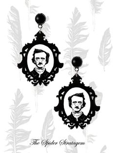 Gothic victorian earrings 'Edgar Allan Poe' by SpiderStratagem, €18.00