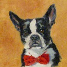 "Daily Paintworks - ""BOSTON BOW TIE"" - Original Fine Art for Sale - © Kris Stewart"