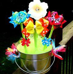 hair bow bouquet
